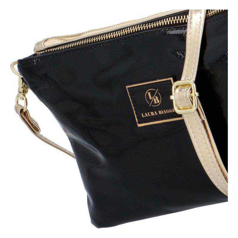 Luxusní crossbody Ivory, černá-zlatá