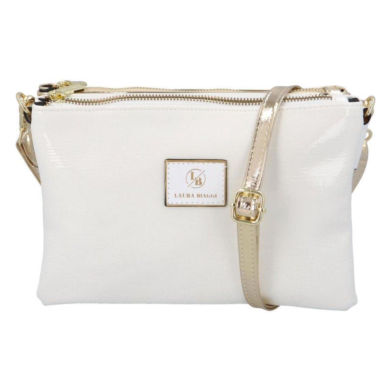 Luxusní crossbody Ivory, bílá-zlatá