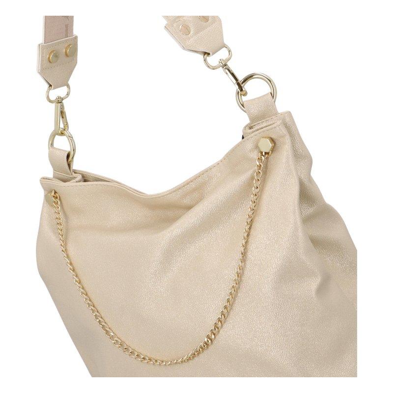 Módní zlatá kabelka Abby