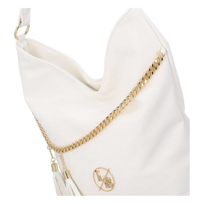 Trendy kabelka s řetízkem Paula, bílá