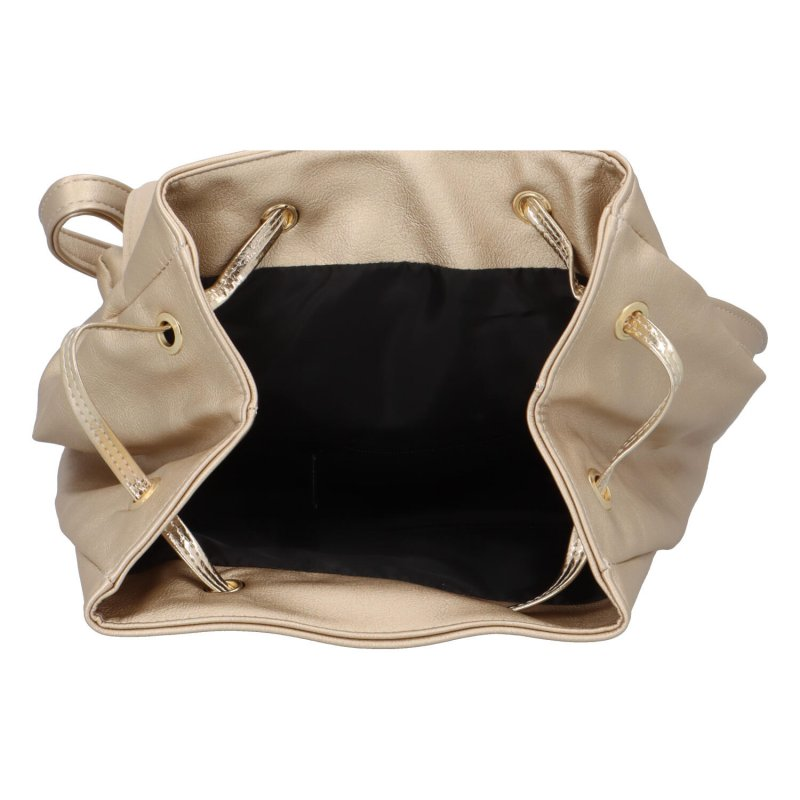 Trendy dámský batůžek Clemmie, zlatý