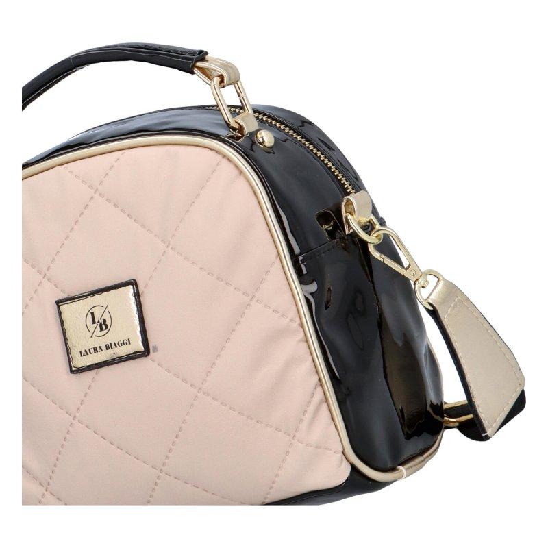 Stylová a zajímavá malá kabelka Kate, béžová-černá