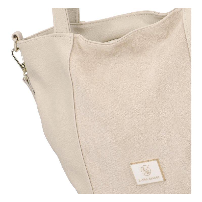 Extravagantní dámská kabelka LB Shine, béžová