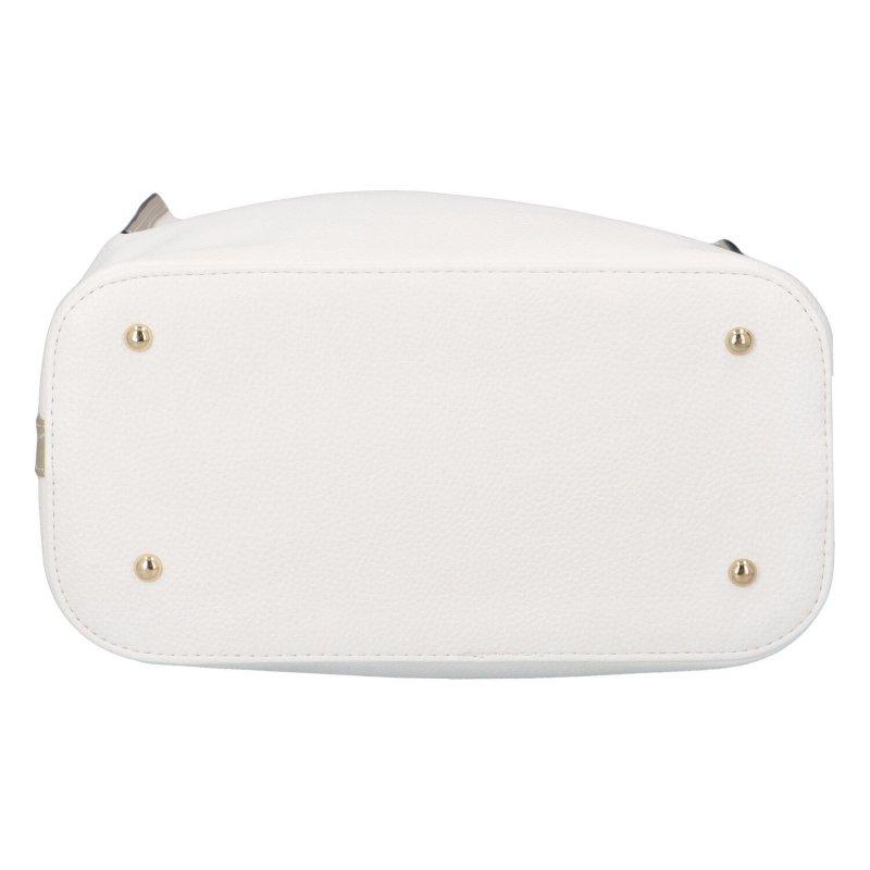 Módní kabelka do ruky i přes rameno Trevis, bílá-zlatá