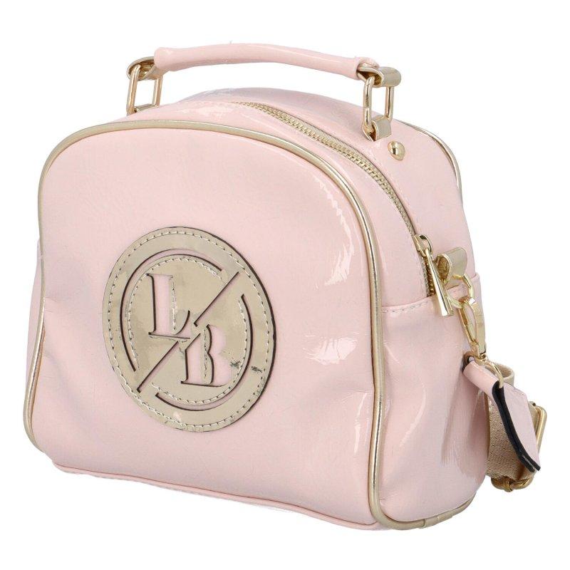 Trendová dámská koženková kabelka Millie, růžová