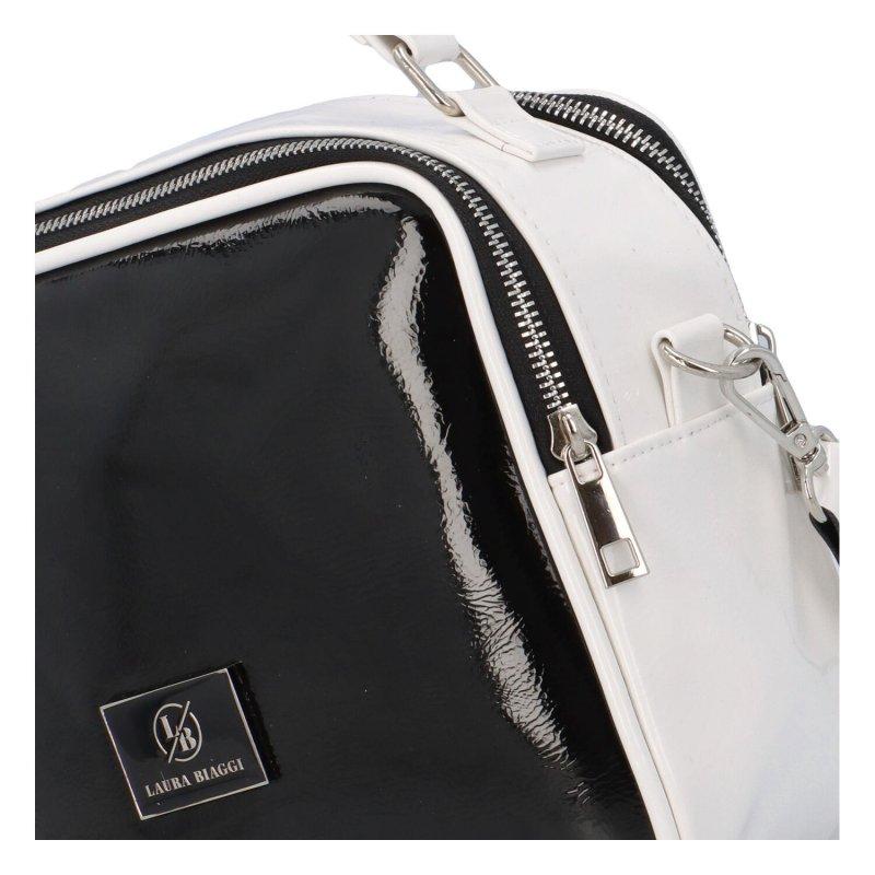 Trendy koženková crossbody Endy, bílá-černá
