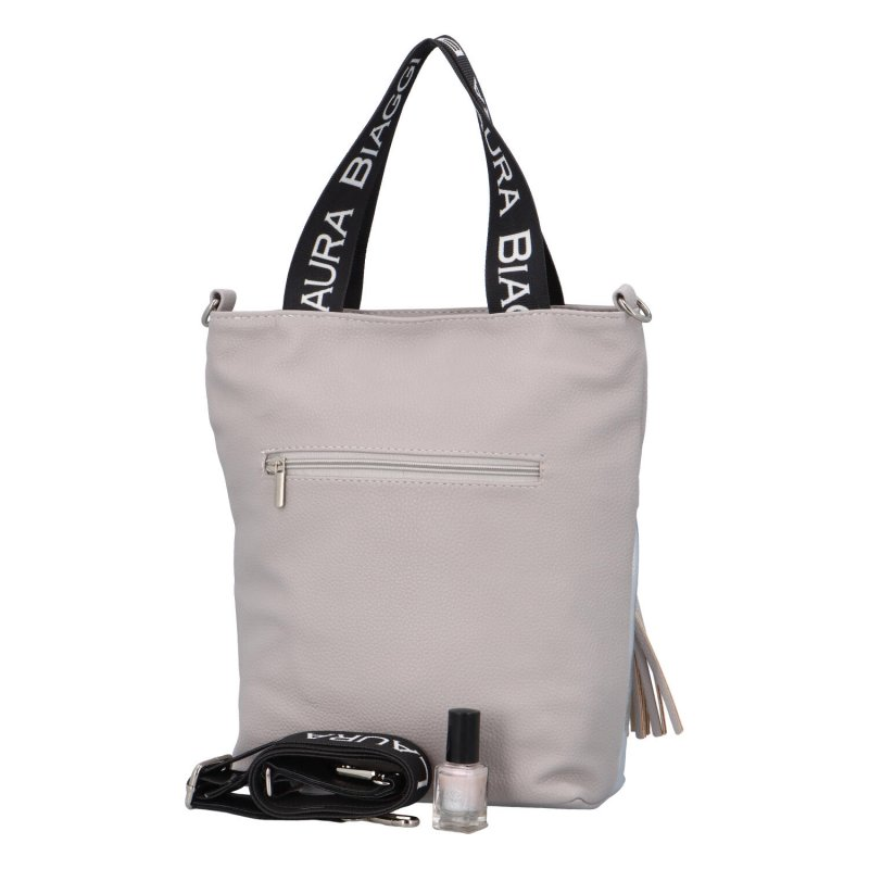 Dámská koženková kabelka LB Emra, šedá