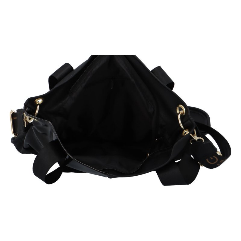 Dámská koženková kabelka LB futuristico, černá