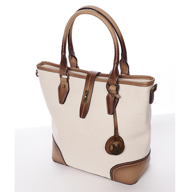 Trendová látková kabelka Abbie, béžová