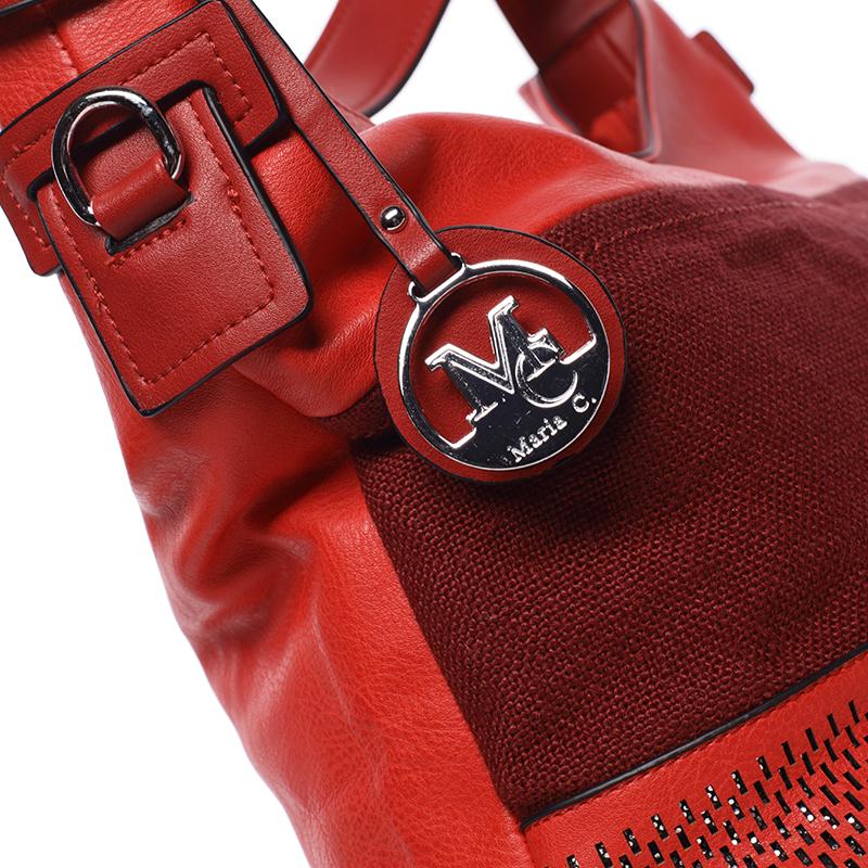 Dámská kabelka přes rameno Leah, červená
