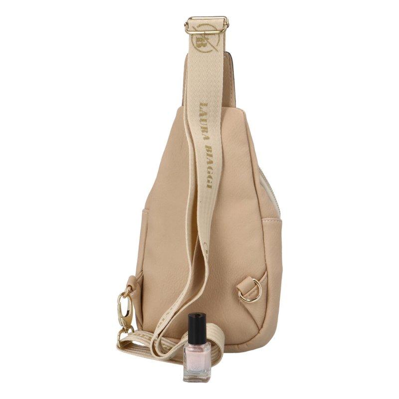 Originální malý batůžek Zeke, béžový semišový II.