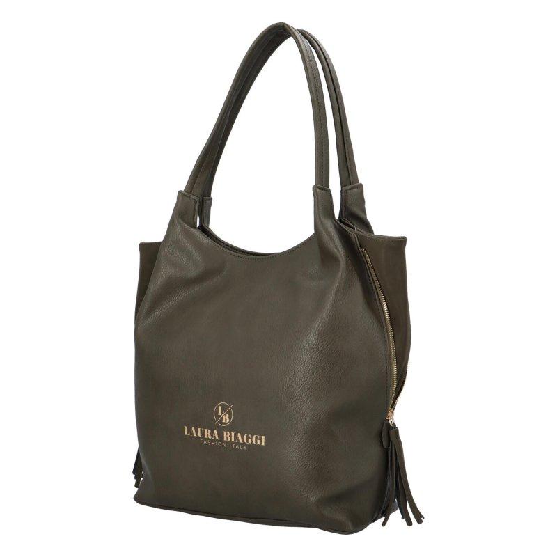 Koženková dámská kabelka Marnie, zelená