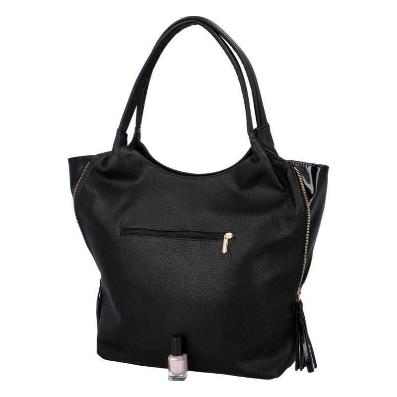 Koženková dámská kabelka Marnie, černá