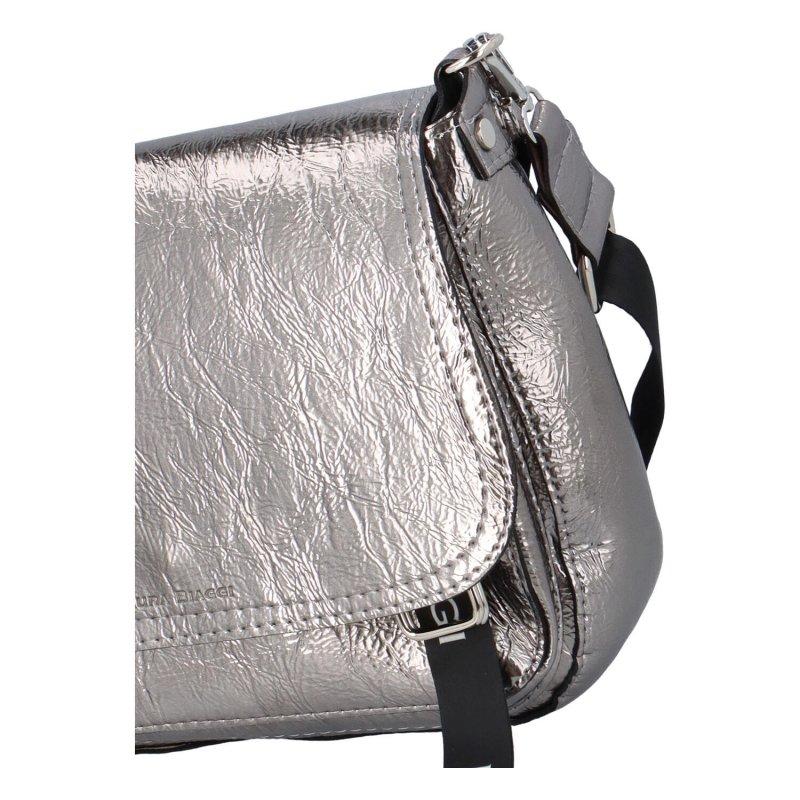 Módní crossbody kabelka Mina, stříbrná
