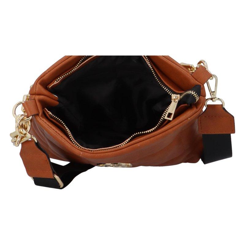 Luxusní elegantní kabelka Darina, hnědá