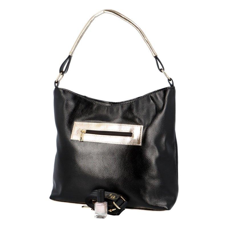 Výrazná dámská kabelka Cole, černá