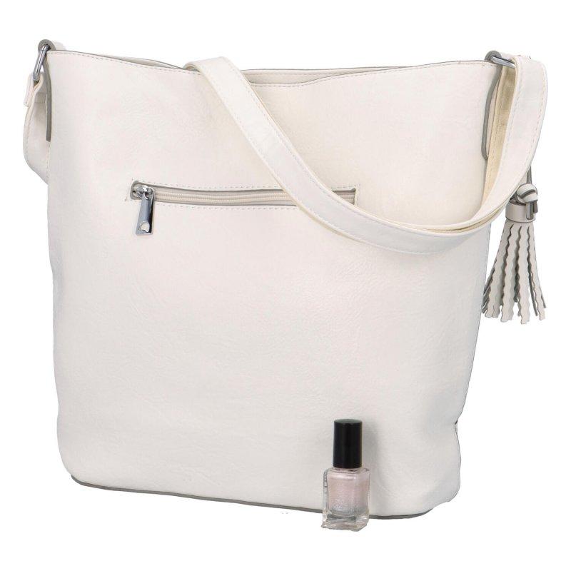 Trendová dámská koženková kabelka Miranda, bílá