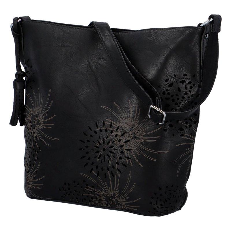 Trendová dámská koženková kabelka Miranda, černá