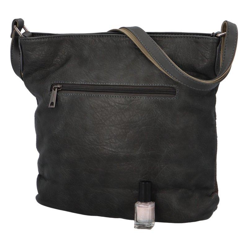 Trendová dámská koženková kabelka Charlotte, šedá
