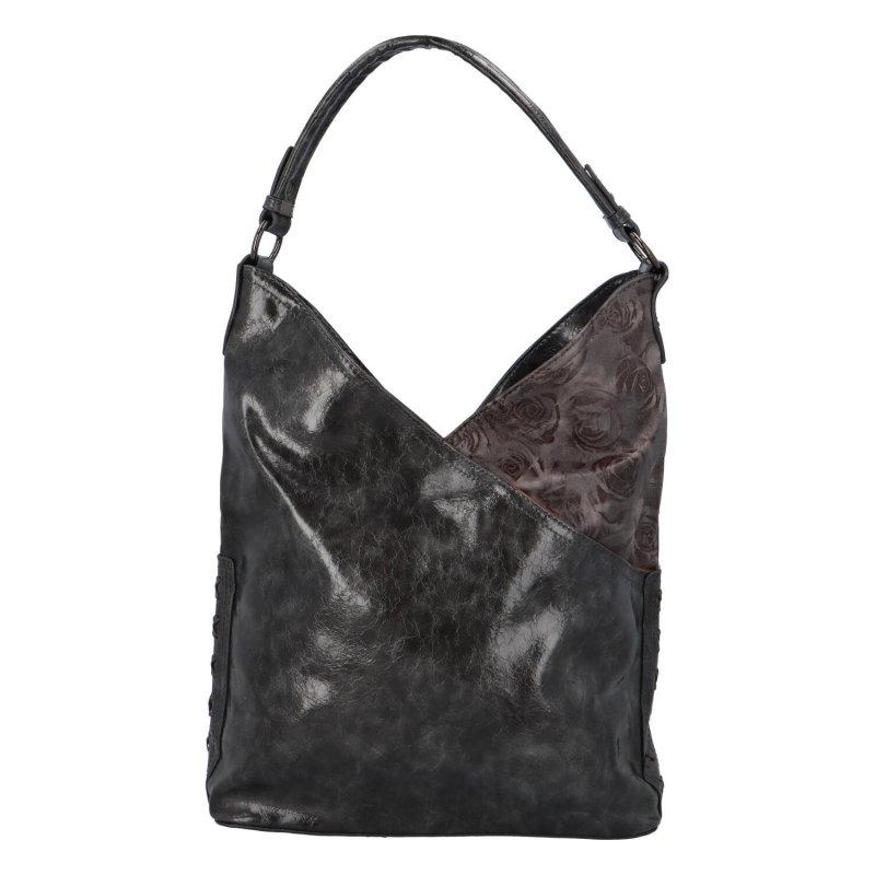 Trendová dámská koženková kabelka Carrie, šedá