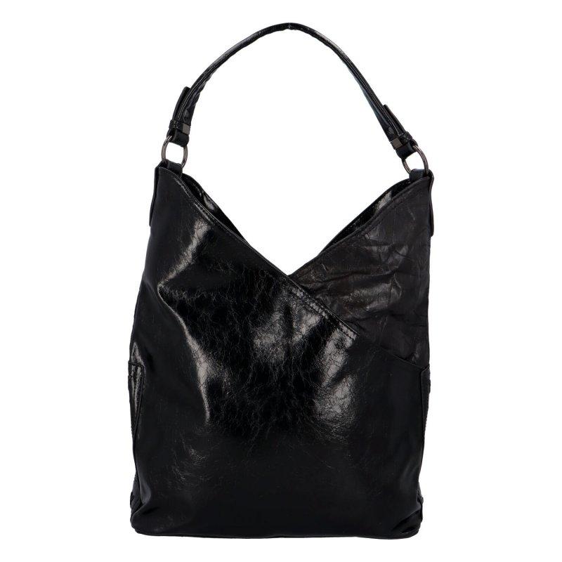 Trendová dámská koženková kabelka Carrie, černá