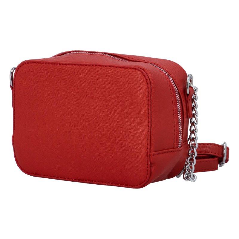 Elegantní dámská koženková kabelka Lucy, červená