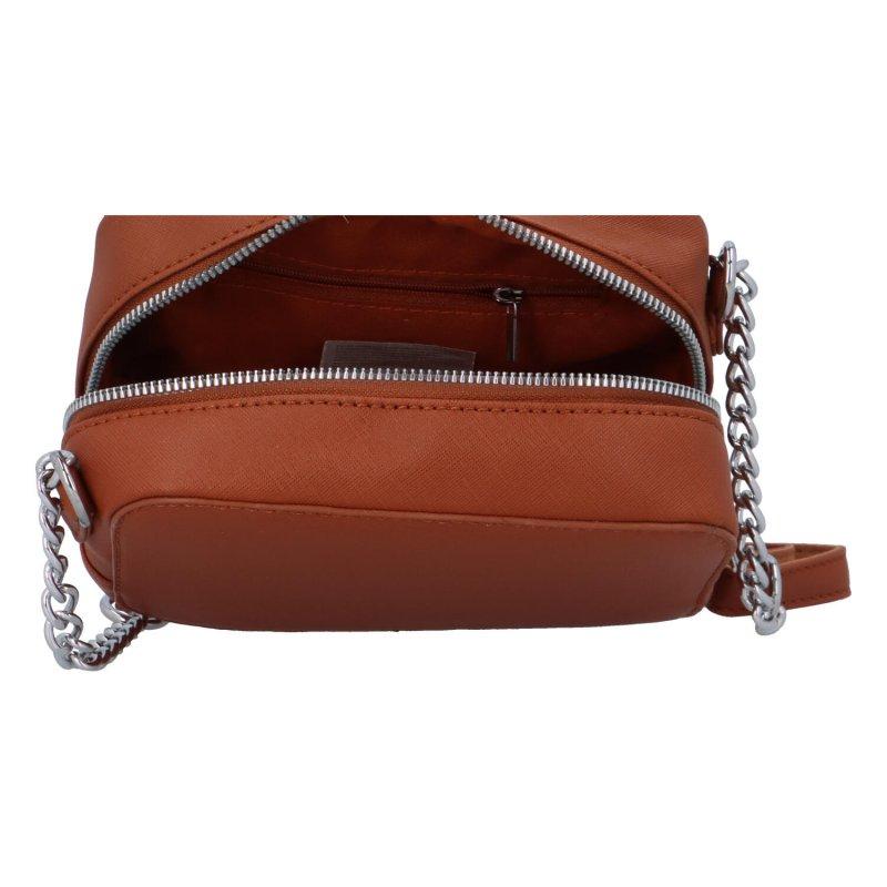 Elegantní dámská koženková kabelka Lucy, koňaková