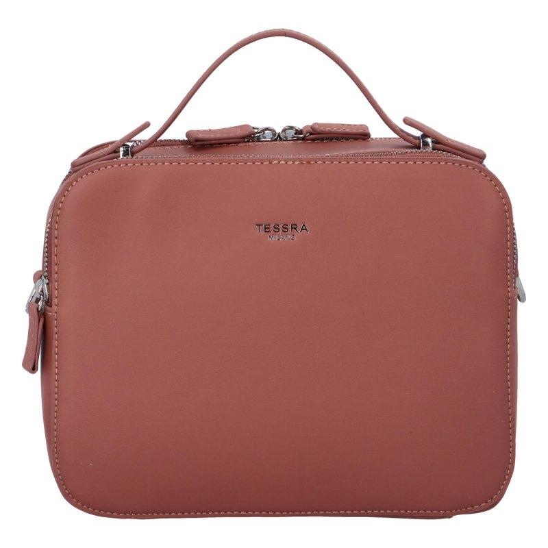 Elegantní dámská koženková kabelka Natasha stylish, růžová