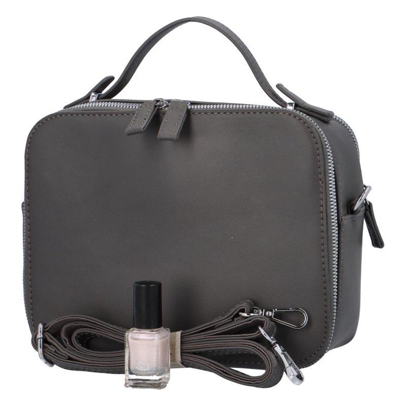 Elegantní dámská koženková kabelka Natasha stylish, šedá