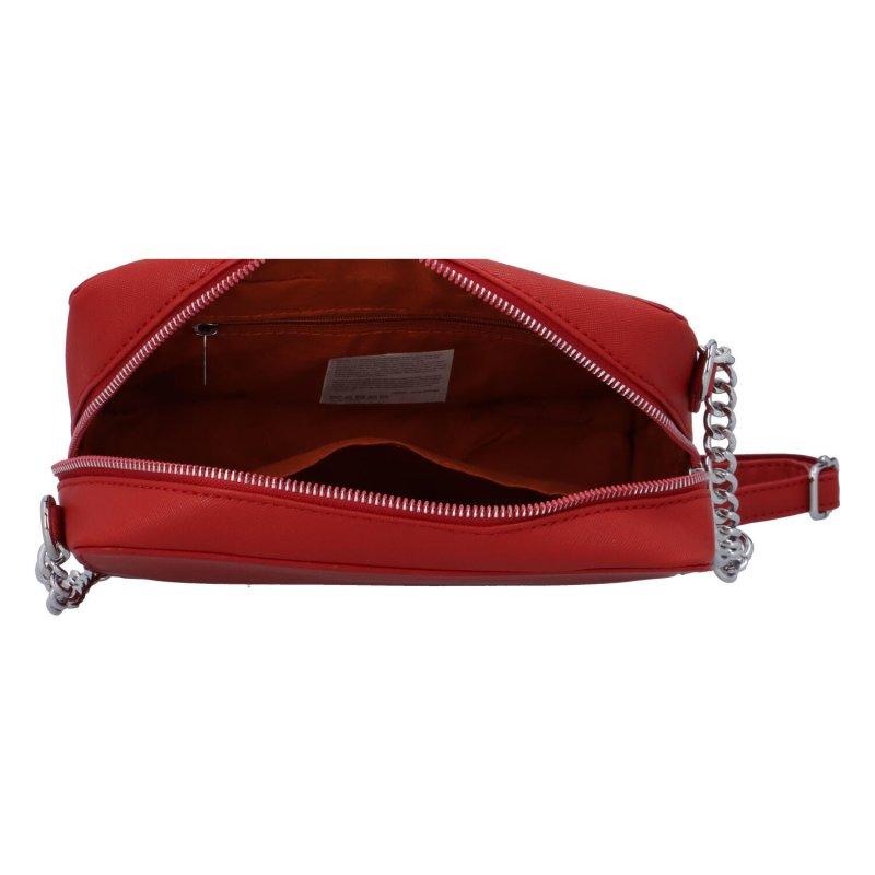 Trendová dámská koženková kabelka Jessica stylish, červená