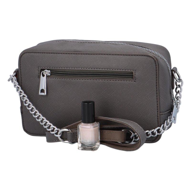 Trendová dámská koženková kabelka Jessica stylish, šedá