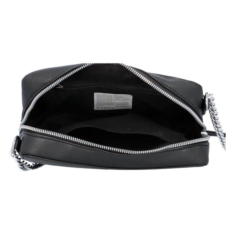Trendová dámská koženková kabelka Jessica stylish, černá
