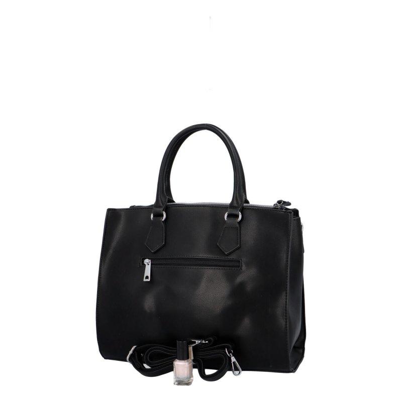 Elegantní dámská koženková kabelka Caroline modern, černá