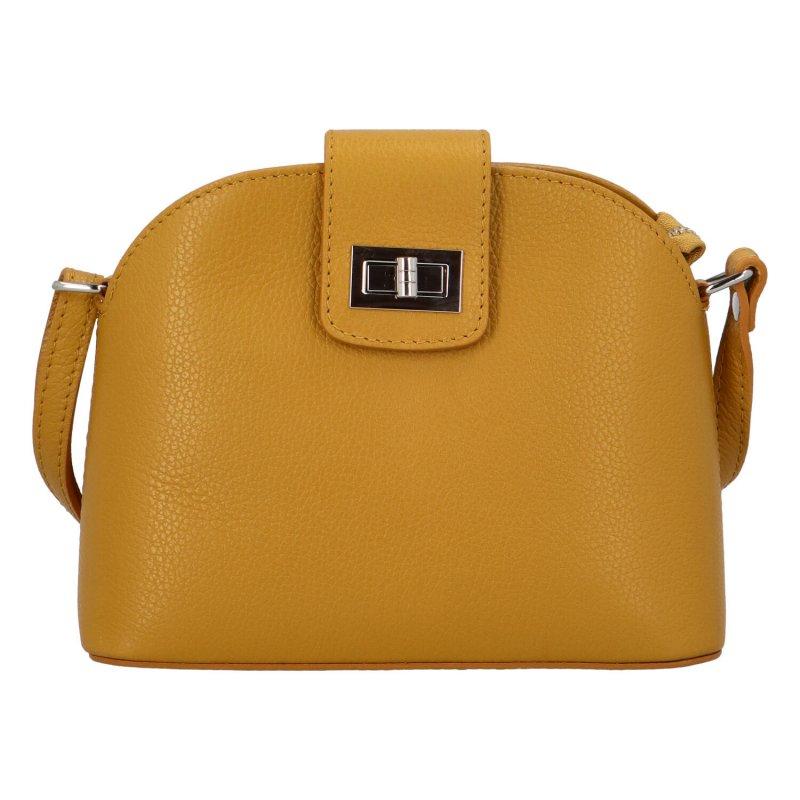 Zajímavá crossbody kabelka se zámečkem Viviana, žlutá