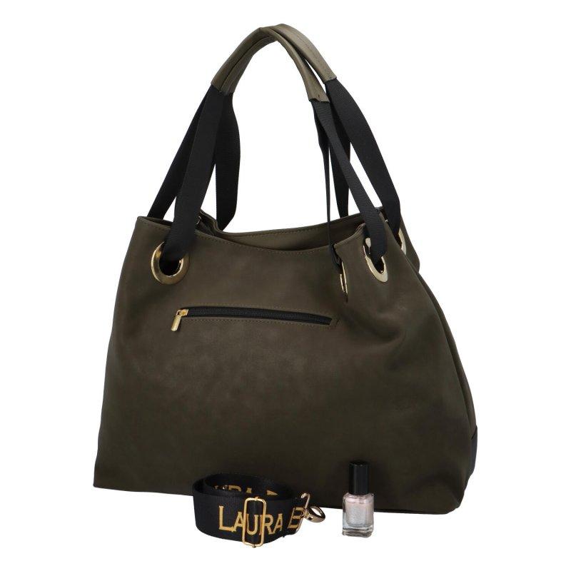 Větší dámská taška LB Brie, zelená