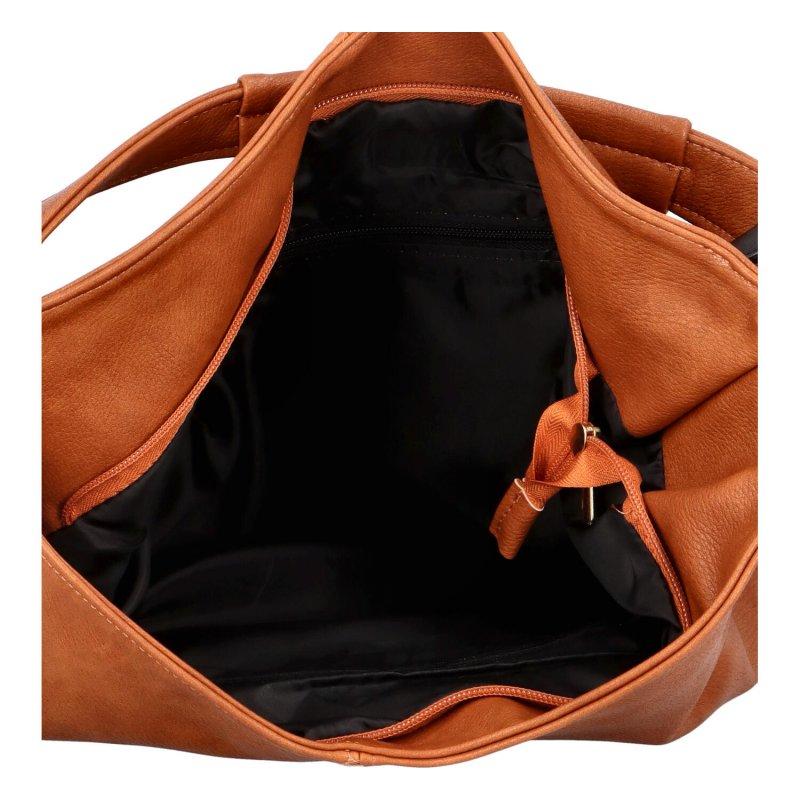 Praktická módní kabelka Lenny, hnědá