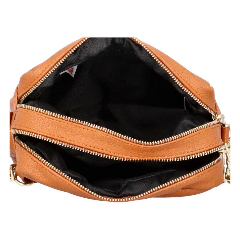 Stylová dámská kabelka přes rameno Deesy, hnědá