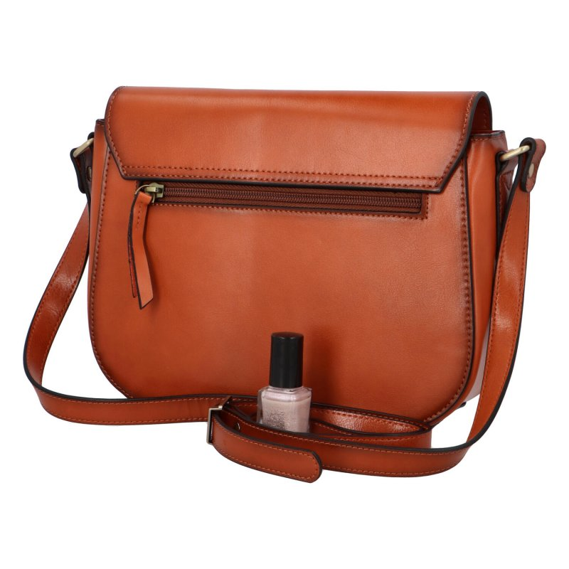 Luxusní dámská kožená kabelka Katana Ema, hnědá