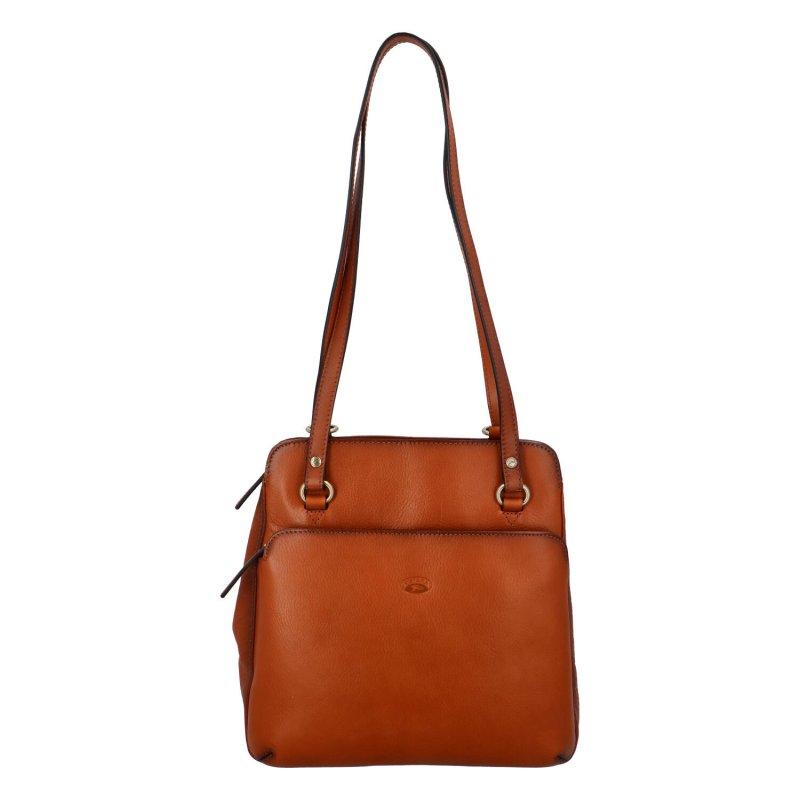 Luxusní dámská kožený kabelko batoh Katana Emily, hnědý
