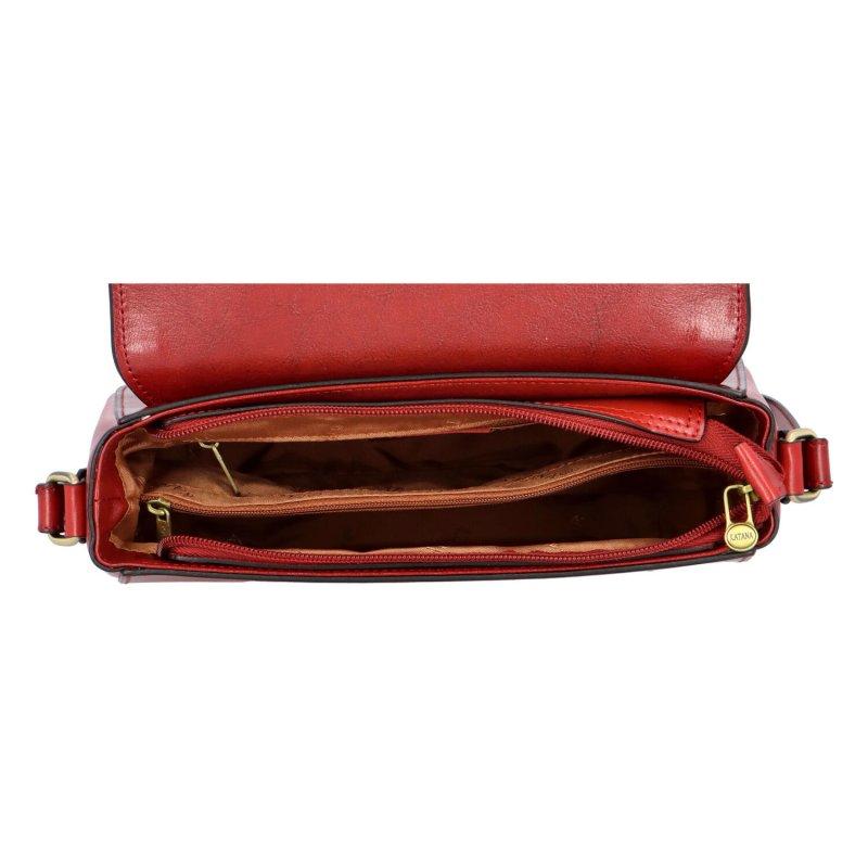 Luxusní dámská kožená kabelka Katana Louis, červená