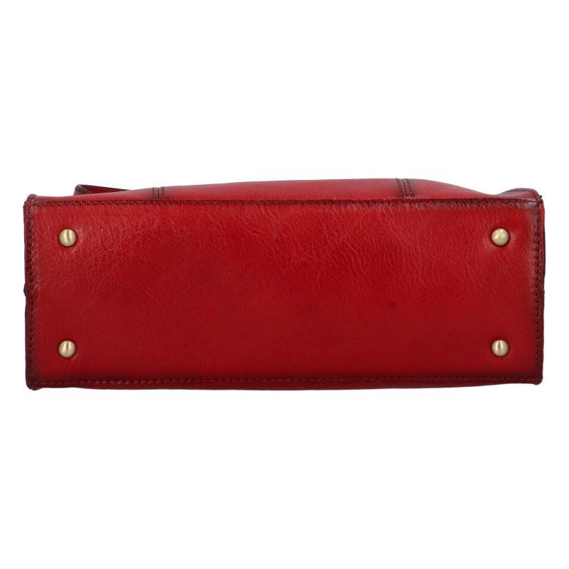 Luxusní dámská kožená kabelka Katana Lana, červená