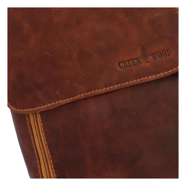 Luxusní kožený batoh Stefano, hnědý