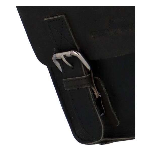 Kožená pánská crossbody taška Emilio, černá