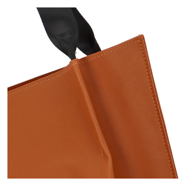 Prostorná dámská kabelka Liam, hnědá