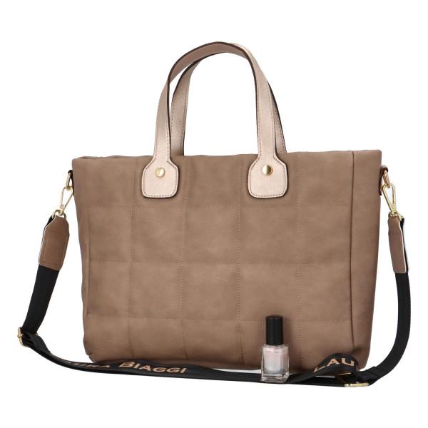 Trendy dámská kabelka do ruky Elijah, taupe