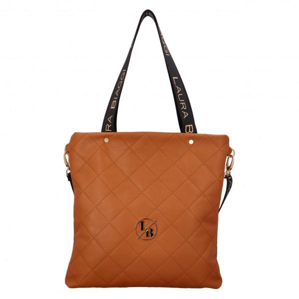 Elegantní dámská kabelka přes rameno Olivie, hnědá