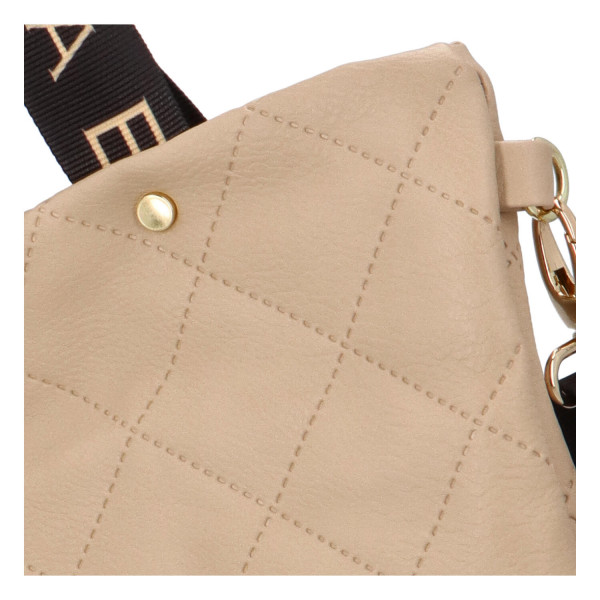 Elegantní dámská kabelka přes rameno Olivie, béžová