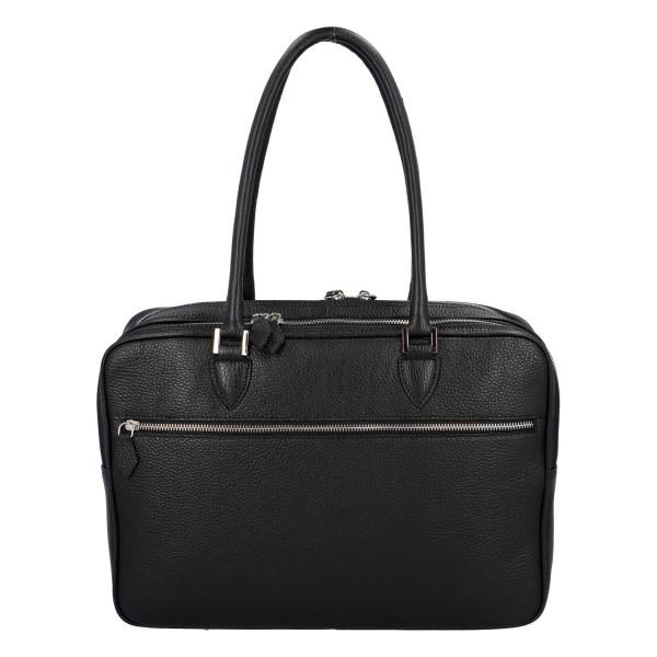 Luxusní kožená business taška Taylor, černá