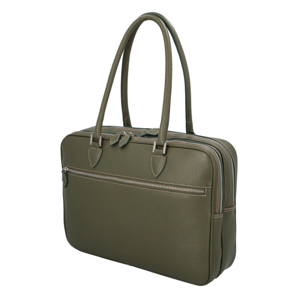 Luxusní kožená business taška Taylor, zelená