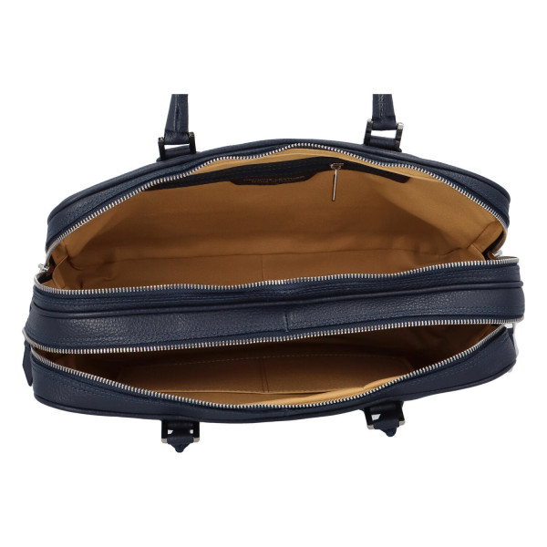 Luxusní kožená business taška Taylor, modrá